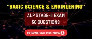 ALP Stage-II Basic Science & Engineering Challenge PDF