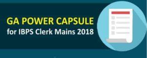 IBPS Clerk Mains GA Power Capsule | Download PDF