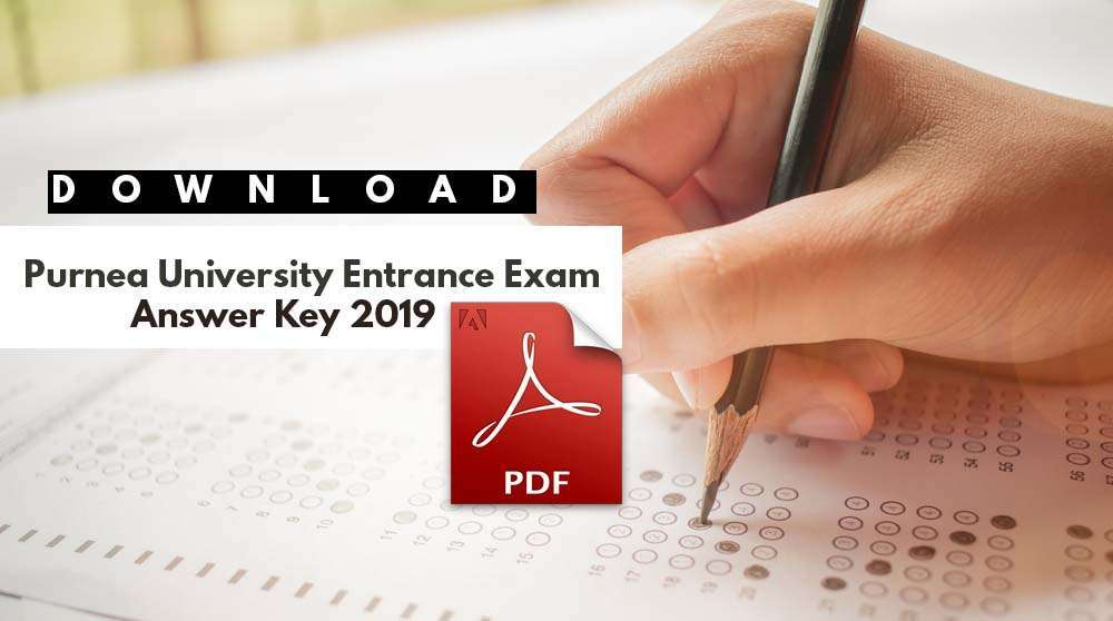 Purnea University Entrance Exam Answer Key 2019