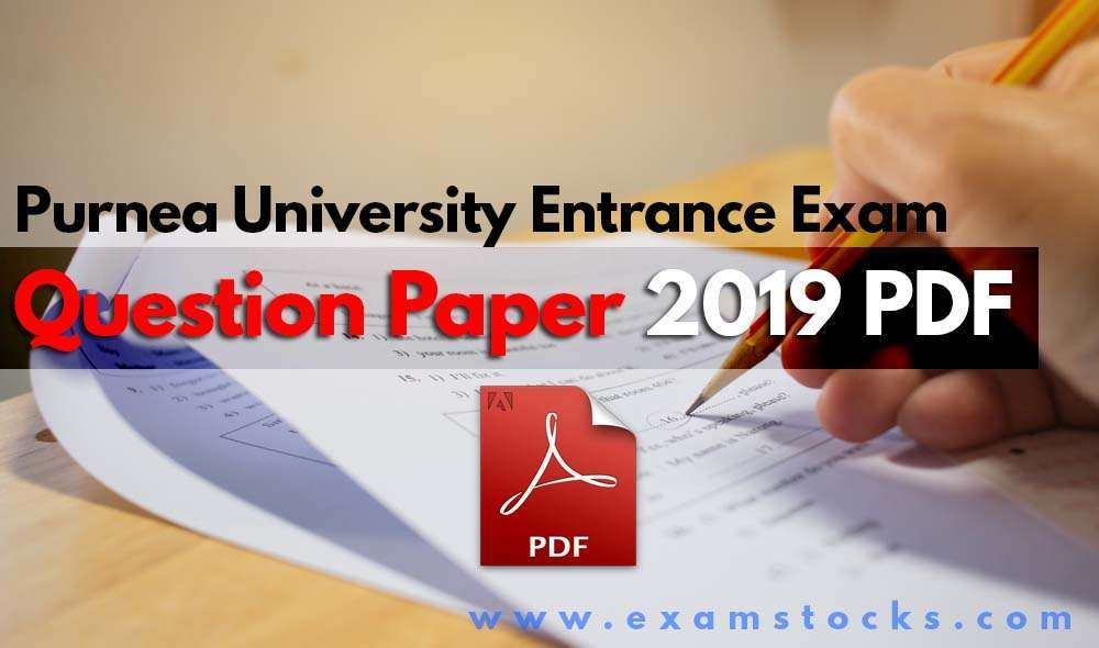 Purnea University Entrance Exam Question Paper 2019 PDF