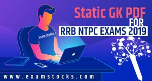 Static Gk PDF For RRB NTPC Exam 2019 Download