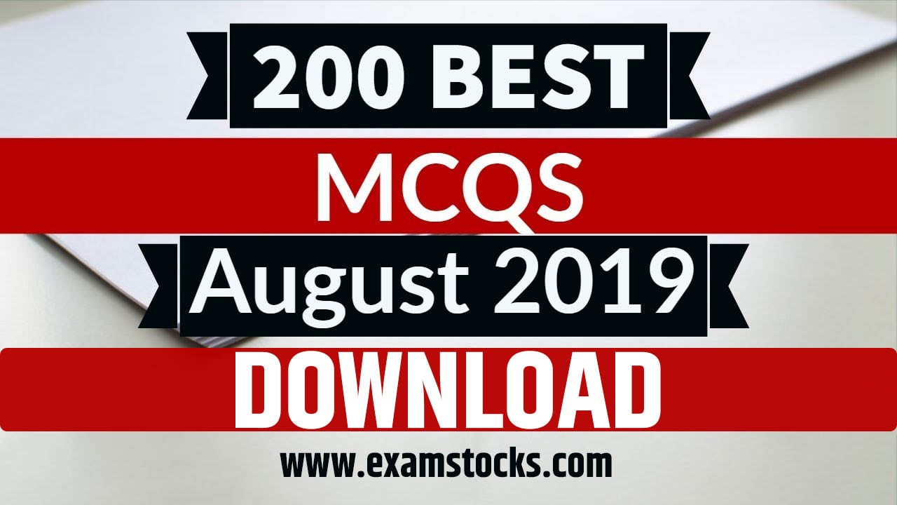 Best 200+ August 2019 Current Affairs PDF Download