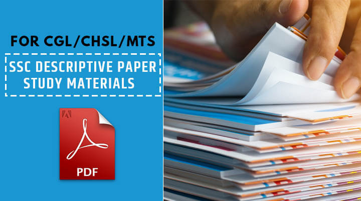 SSC Descriptive Paper Study Materials Download PDF