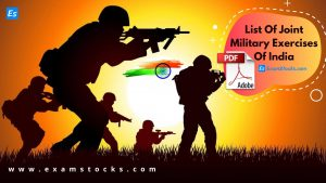 List Of Joint Military Exercises Of India 2020 PDF Download