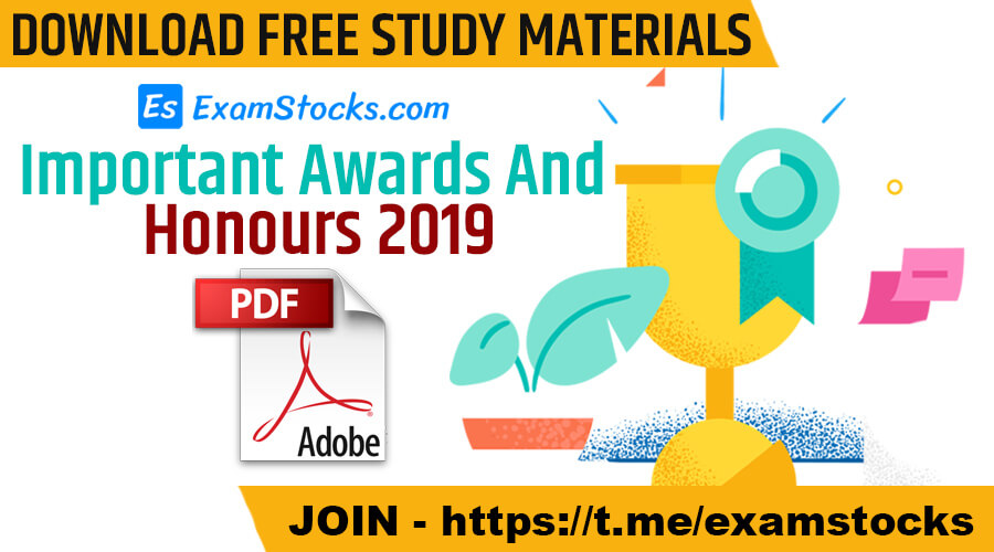 Important Awards And Honours 2019 PDF Download
