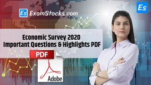 Economic Survey 2020 Important Questions & Highlights PDF