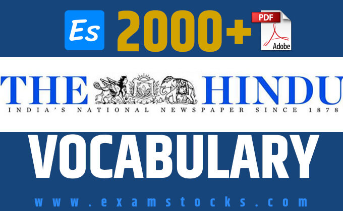 2000+ The Hindu Vocabulary PDF Download Most Repeated