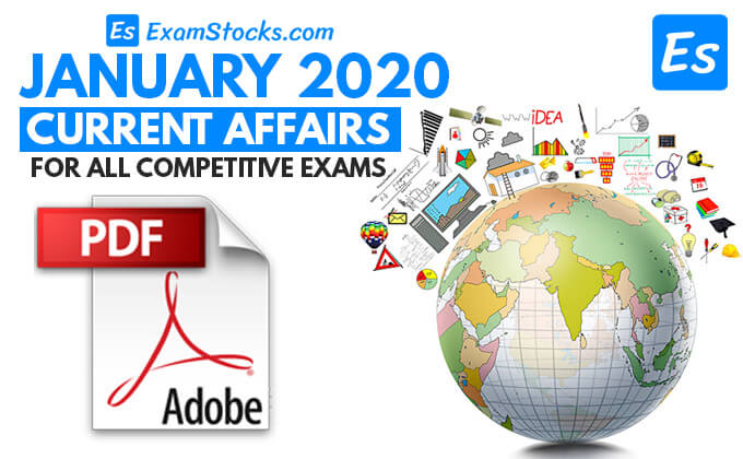 300+ Best Current Affairs January 2020 PDF Download