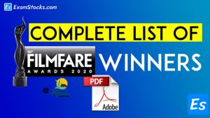 Complete List Of Filmfare Awards 2020 Winners PDF