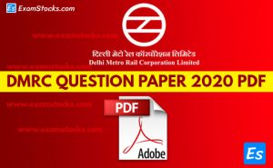 DMRC Memory Based Question Paper 2020 PDF