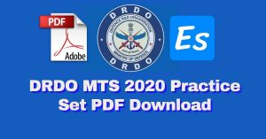 DRDO MTS 2020 Practice Set PDF Download