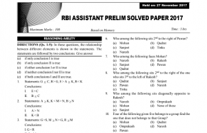 RBI Assistant Previous Year Solved Question Papers PDF