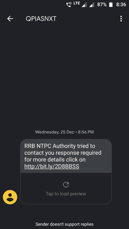 RRB NTPC Fake Messages To Aspirants