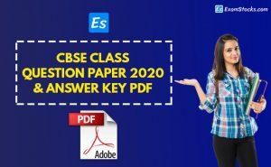 CBSE Class 10th Question Paper 2020 PDF & Answer Key