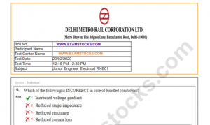 DMRC Question Paper 2020 PDF With Answer Key
