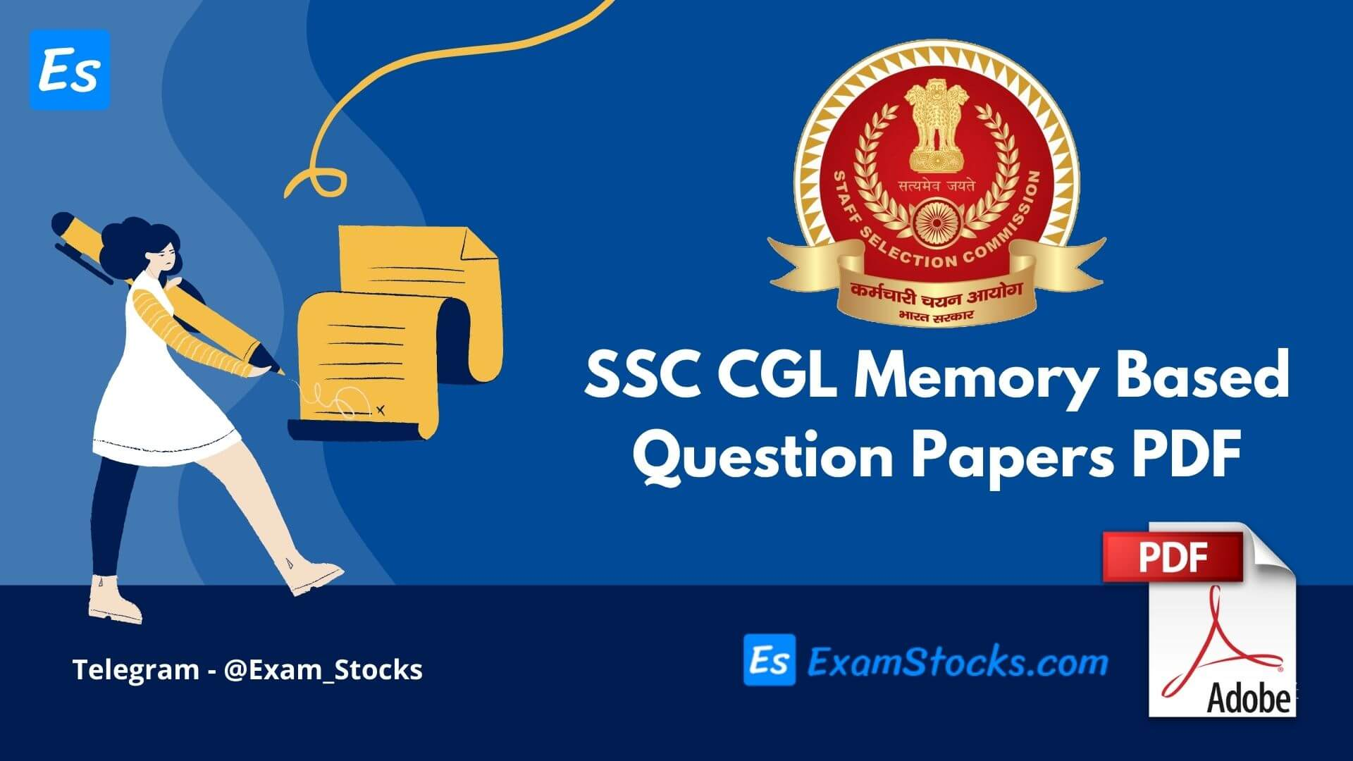 SSC CGL Memory Based Question Papers PDF