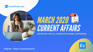 300+ Best Current Affairs March 2020 PDF [Bilingual]