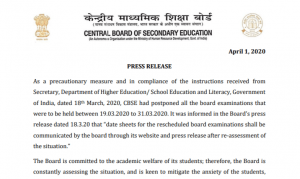 CBSE To Resume Class 10 & 12 Board Exams 2020 For Main Subjects