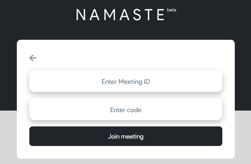 Join Meeting On Say Namaste App