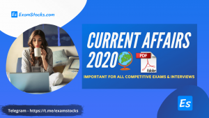 Latest Current Affairs 2020 For Competitive Exams PDF