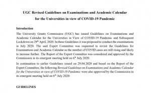 UGC Guidelines 2020 Final Year Exams To Be Held In September