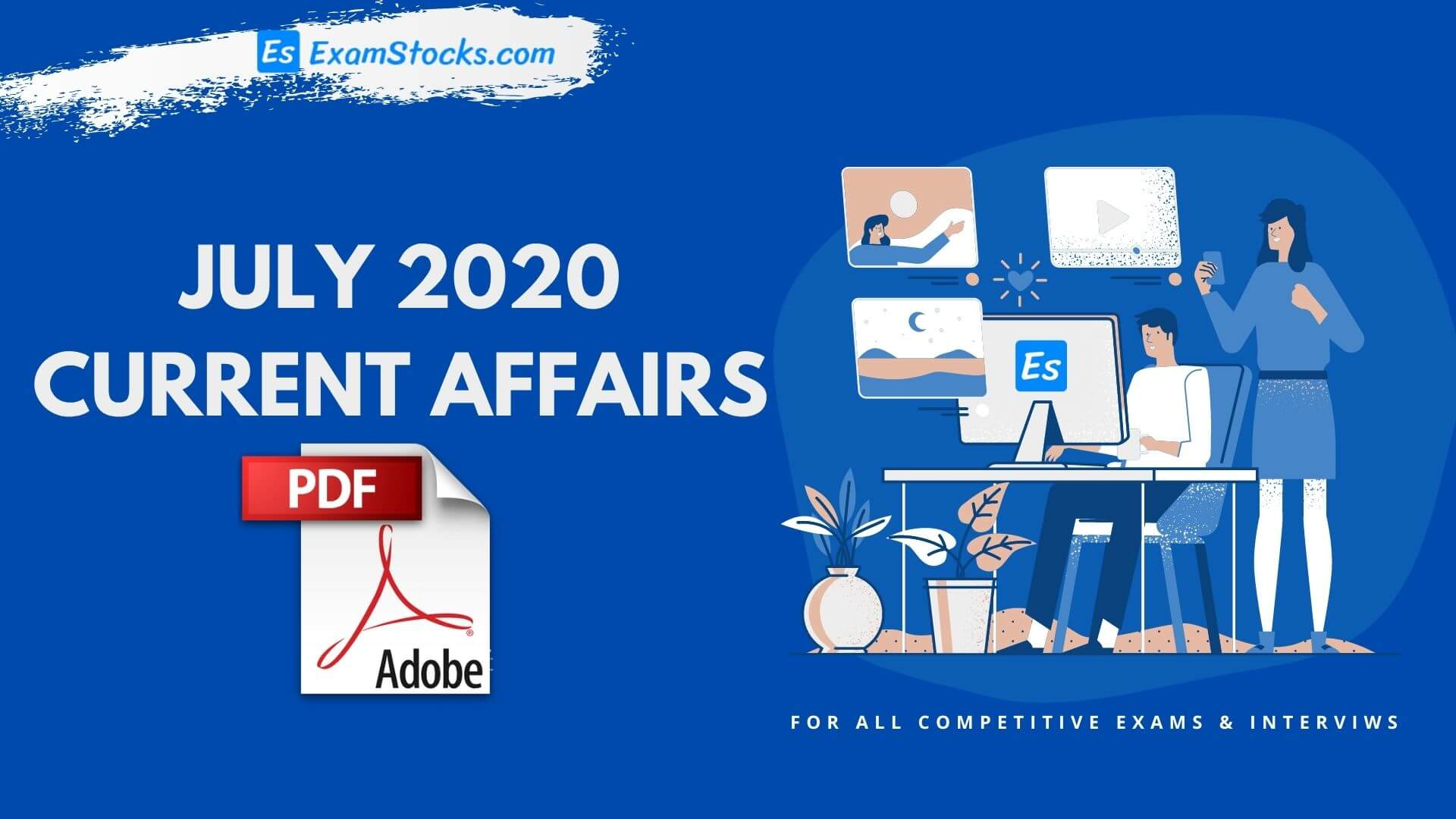 300+ Best July 2020 Current Affairs PDF In Hindi & English