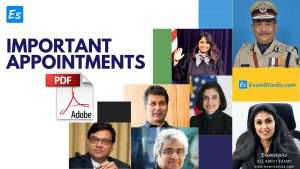 List Of Important Appointments 2020 PDF