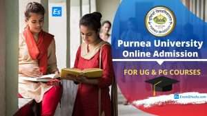 Purnea University Online Admission 2020 For UG & PG Courses