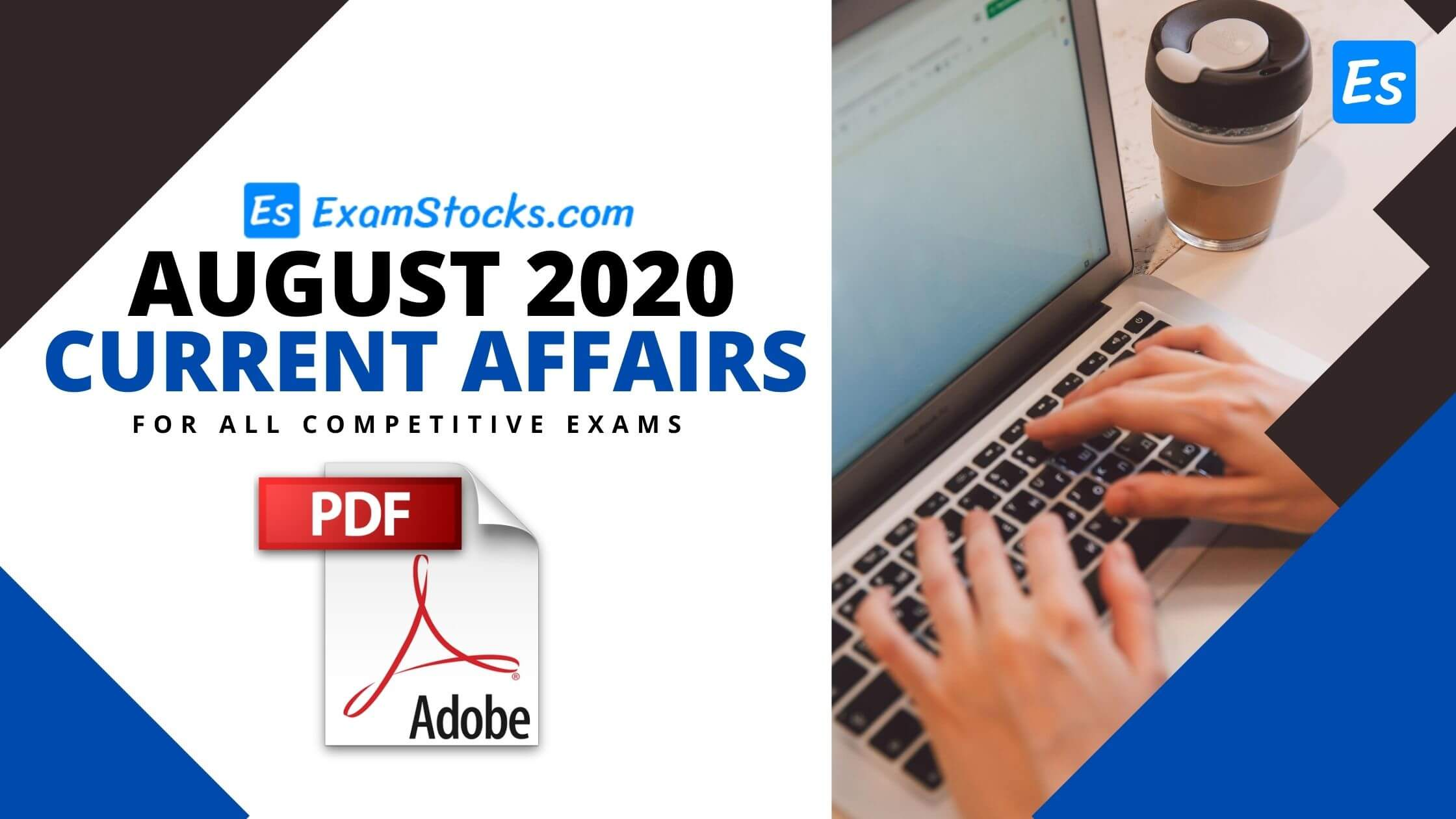 300+ Best August 2020 Current Affairs PDF Bilingual