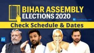Bihar Assembly Elections Schedule 2020 & Dates