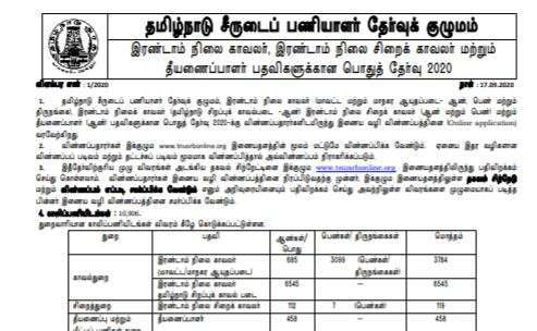 TN Police Constable Recruitment 2020: Apply Online For 10906 Posts