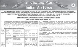 AFCAT 1 Recruitment 2021 Notification Released Apply Online Here