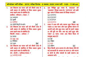 Rajasthan Police Question Paper PDF 2020 & Answer Key