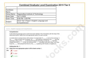 SSC CGL Tier 2 Question Paper 2019 PDF Of All Shifts