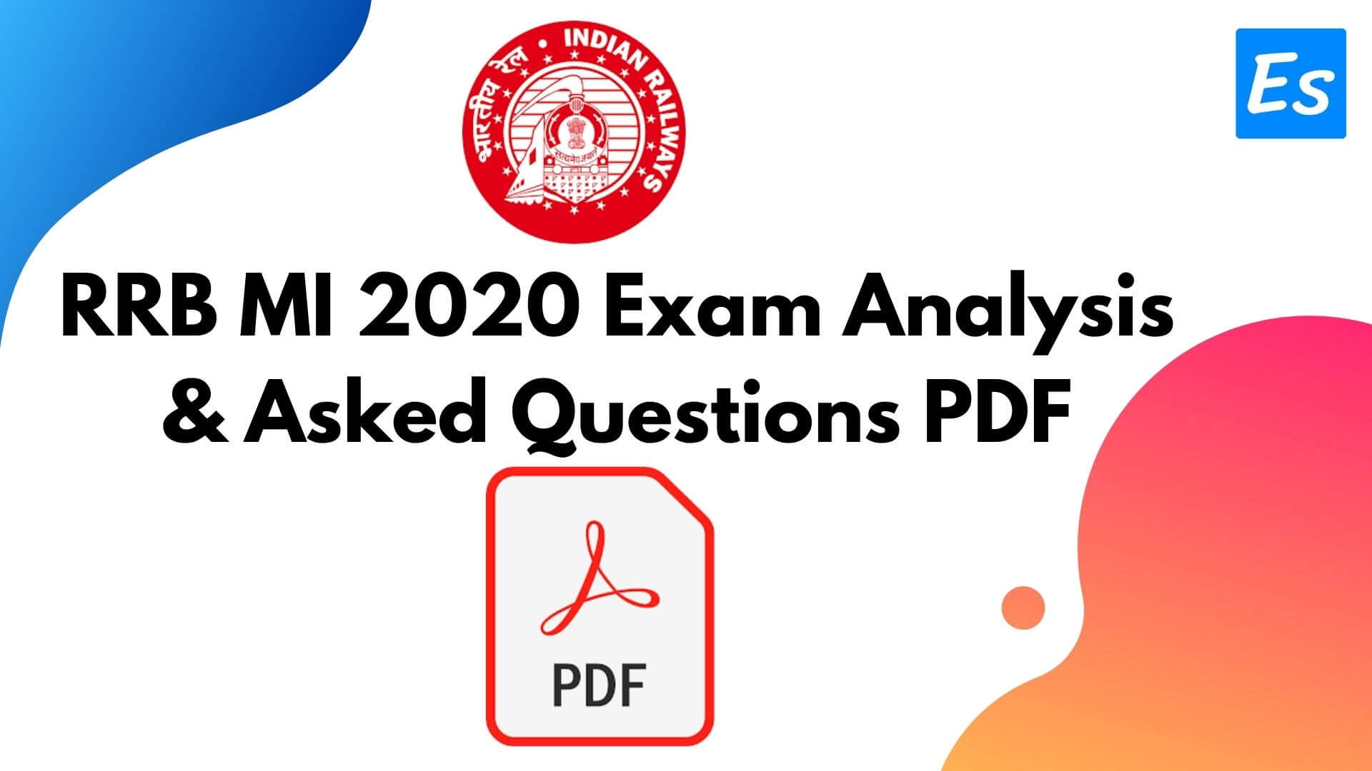 RRB MI 2020 Exam Analysis & Asked Questions PDF