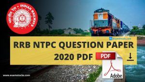 RRB NTPC Question Paper 2020 PDF Download Memory Based Questions