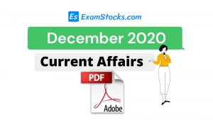 300+ Best December 2020 Current Affairs PDF In Hindi & English