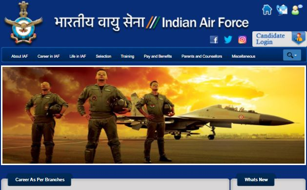 Indian Air Force Recruitment 2021 Apply Online For 1524 Posts