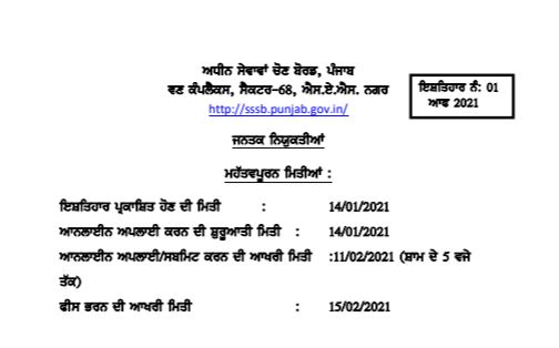 Punjab Patwari Recruitment 2021 Apply Online For 1152 Posts