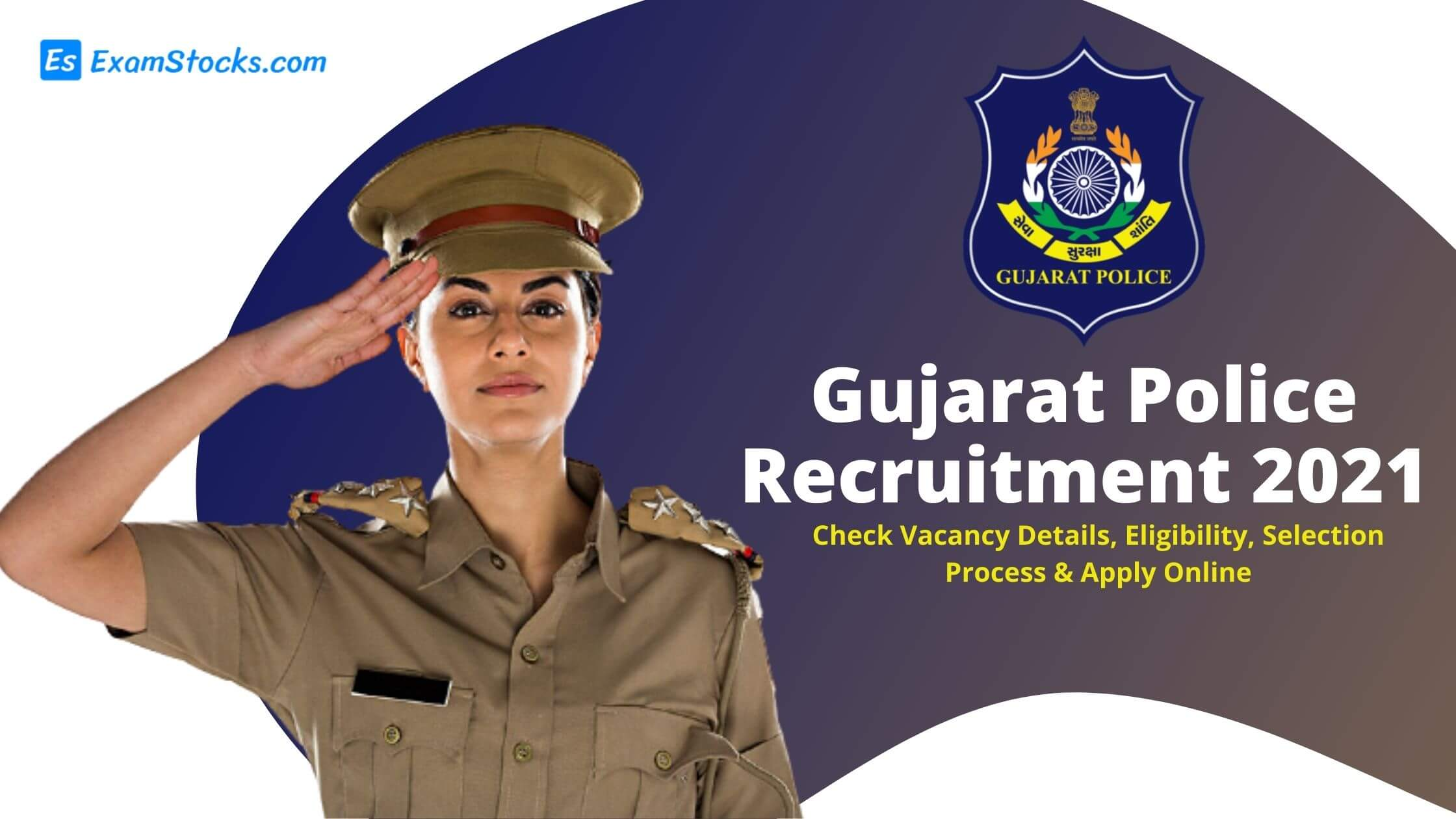 Gujarat Police Recruitment 2021 Apply Online For 1382 Posts