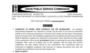 UPSC Civil Services Recruitment 2021 Apply Online For 712 Posts