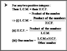 LCM and HCFFormula